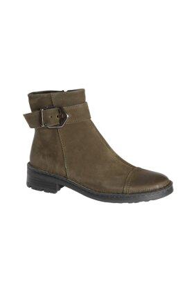 RELAXSHOE - Oliven Skind Støvle