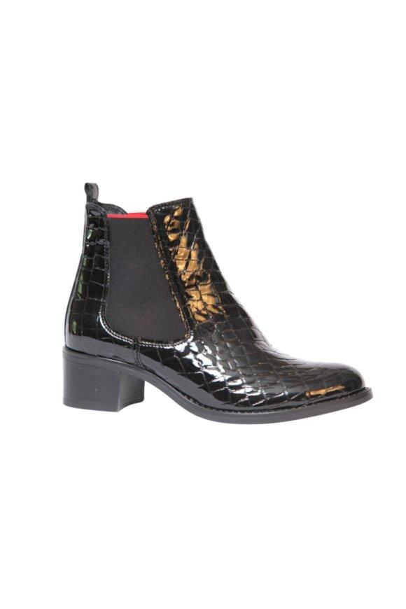 RELAXSHOE - Sort Lak Skind støvle