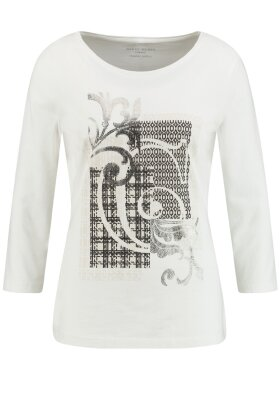 GERRY WEBER - Organic Cotton T-shirt Off White