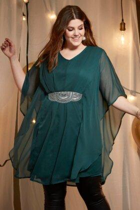 ZHENZI - Nova Grøn Kjole