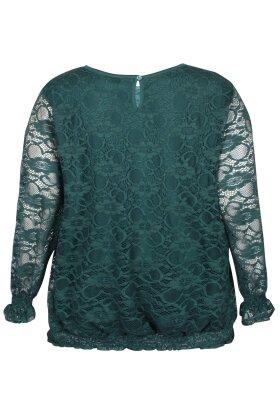 ZHENZI - Kaus Grøn Blonde Bluse