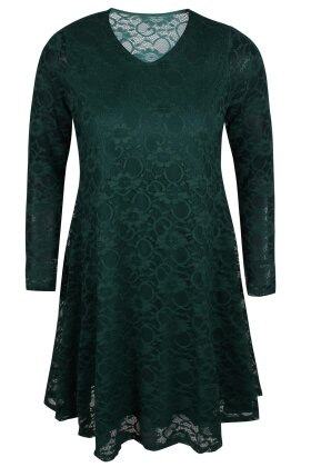 ZHENZI - Kaus Grøn Blonde Kjole