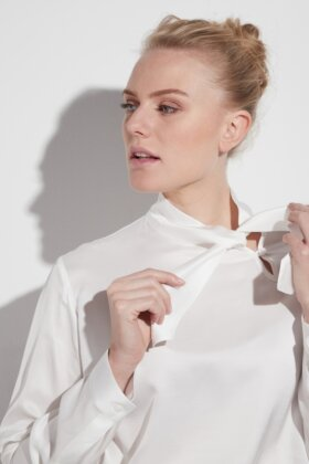 ETERNA - Viscose Blouse Off White