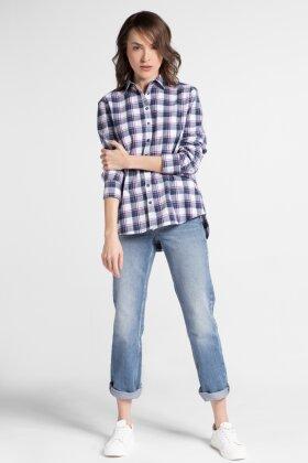 ETERNA - Flannel skjorte blå tern
