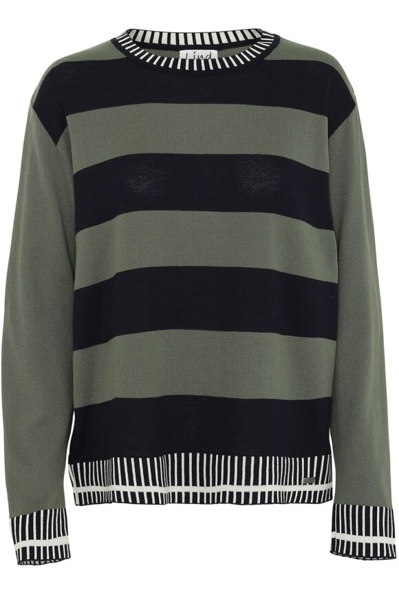 LIND - Anna Pullover Sort Army