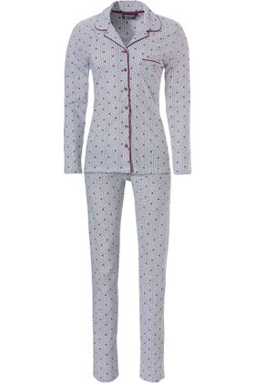 PASTUNETTE - Pyjamas Hvid Rosa Prikket