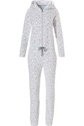 REBELLE - Onepiece Jumpsuit Lysegrå