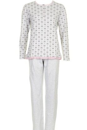 MISSYA - Panda Pyjamas Lysegrå