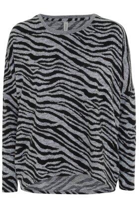 SOYACONCEPT - Sc Biara Zebra Bluse - Grå