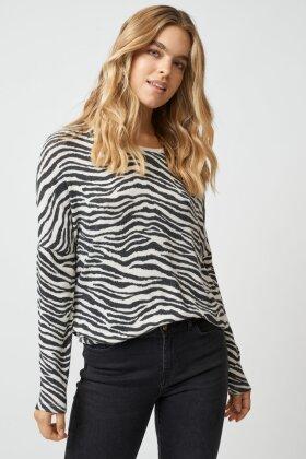 SOYACONCEPT - Sc Biara Zebra Bluse - Off White
