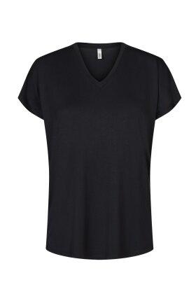 SOYACONCEPT - Marica 32 Basis T-shirt - Sort - Lyocell