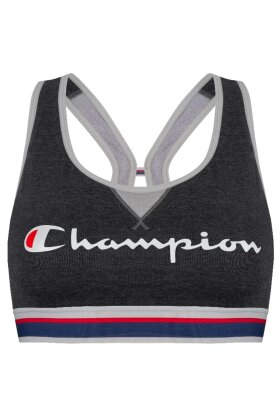 CHAMPION - Authentic Crop Top Sports Bra - Mørkegrå