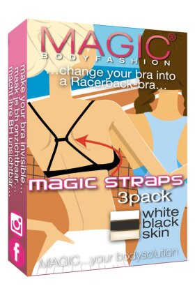 MAGIC BODYFASHION - Magic Straps 3 pak - bh strop samler - Size 2 Bred