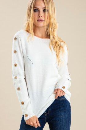 PULZ - Liza Pullover - Strik - Gul