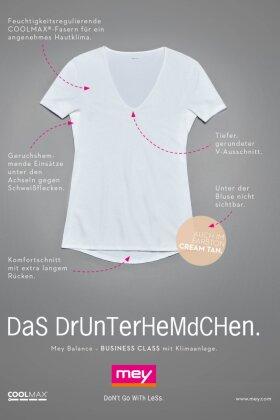 MEY - Balance Coolmax T-shirt - Hvid