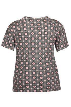 ZHENZI - Bast T-shirt - Army Grøn