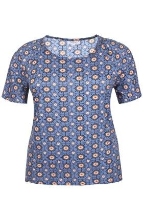ZHENZI - Bast T-shirt - Blå