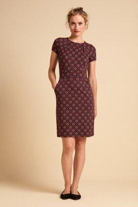 KING LOUIE - Mona Dress Lisboa - Kjole Bordeaux