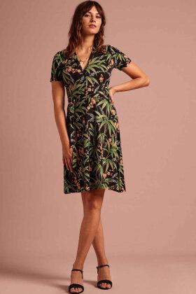 KING LOUIE - Emmy Dress Tahiti - Tropisk Print Sort