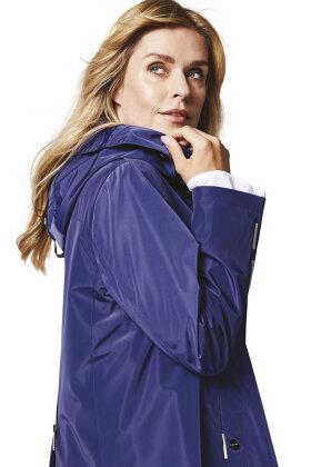 HERLUF DESIGN - Jade Rainwear Frakke - Bygevejr -  Blå