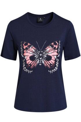 BRANDTEX - T-shirt Sommerfugl - Marine