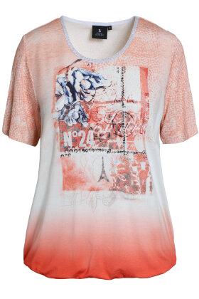 BRANDTEX - Printet T-shirt - Koral