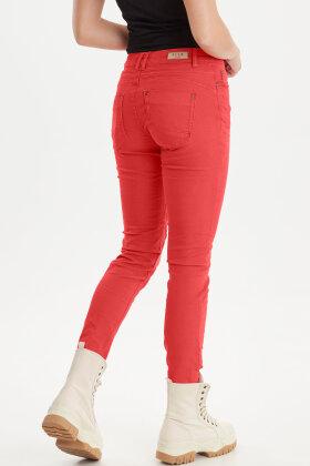 PULZ - Rosita Pant - Ankel Jeans - Rød