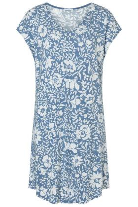 MEY - Natkjole - Floralt Print - To farvet - Hvid