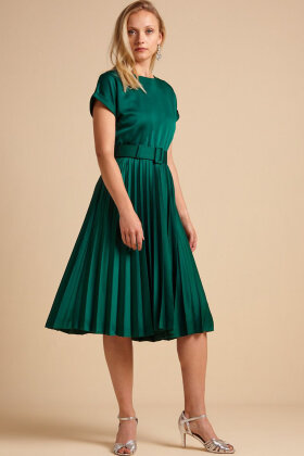 KING LOUIE - Betty Plisse Dress Weekender - Peacock Green - Grøn