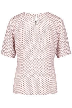 GERRY WEBER - T-shirt - Blomstret Print - Rosa