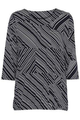 SOYACONCEPT - Marica T-shirt - Grafisk Print - Mørkeblå