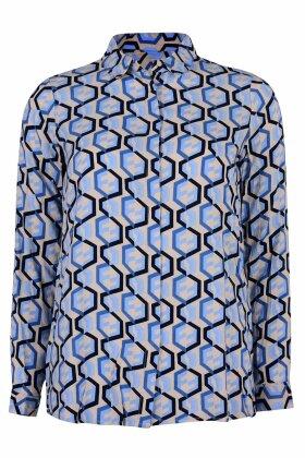 SOYACONCEPT - Elena Grafisk Skjorte - Mørkeblå