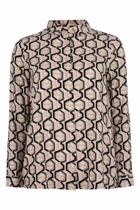 SOYACONCEPT - Elena Grafisk Skjorte - Army Grøn