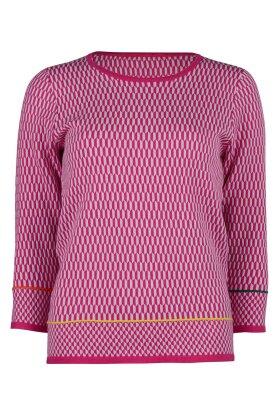 MICHA - Frisk Mønstret Strik - Pink