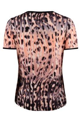 BASSINI - Fest T-shirt - Dyreprint - Laksefarvet