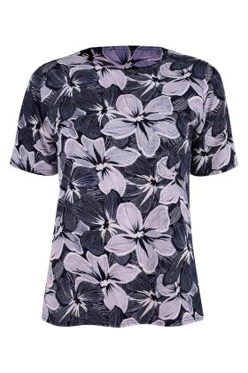 BASSINI - Festbluse - T-shirt - Marine