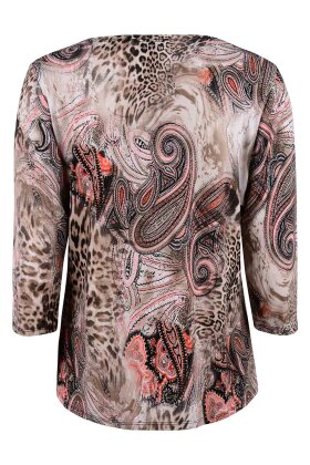 BASSINI - Festbluse - Print - Sort