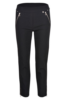 ROBELL - Nena Stumpebukser - Super Slim Fit - Sort