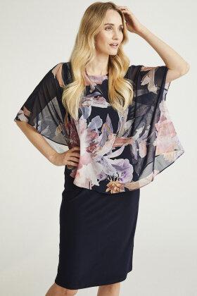 MOLLY-JO - Bluse - Blomsterprint - Mørkeblå