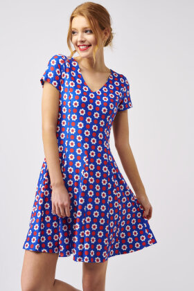 SMASHED LEMON - Kjole - Friskt Print - Blå