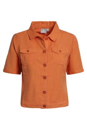 BRANDTEX - Kort Jakke - Sommer Cowboy Jakke - Orange