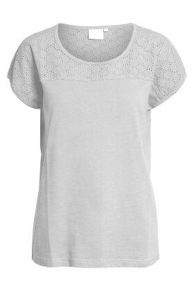 BRANDTEX - T-shirt - Mønstret - Hvid