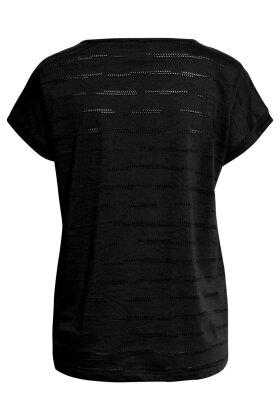 BRANDTEX - T-shirt - Mønstret - Sort