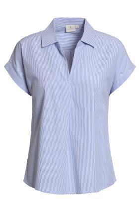 BRANDTEX - Skjorte Bluse - Stribet - Lyseblå