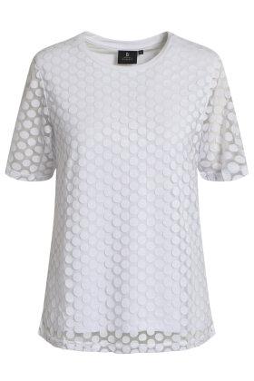 BRANDTEX - Klassisk T-shirt - Mesh - Hvid