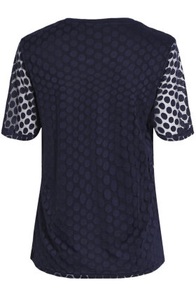 BRANDTEX - Klassisk T-shirt - Mesh - Marine
