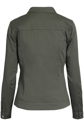 BRANDTEX - Kort Jakke - Denim Look - Khaki