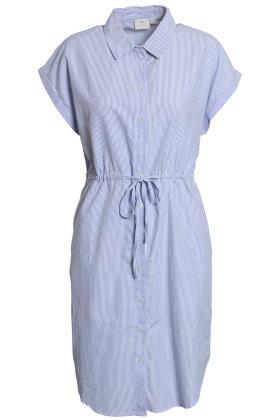 BRANDTEX - Skjorte Kjole - Stribet - Lyseblå