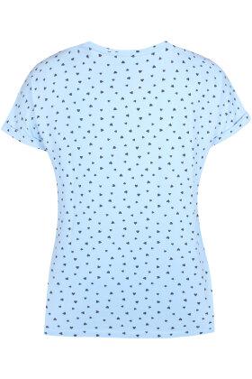 ZHENZI - Alberta T-shirt - Hjerter - Lyseblå