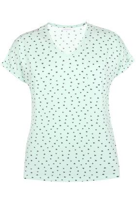ZHENZI - Alberta T-shirt - Hjerter - Mint